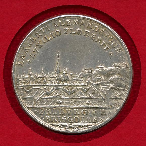 1739年 ドイツ フライブルク ターラー銀貨 都市景観 – 都市景観コイン ...